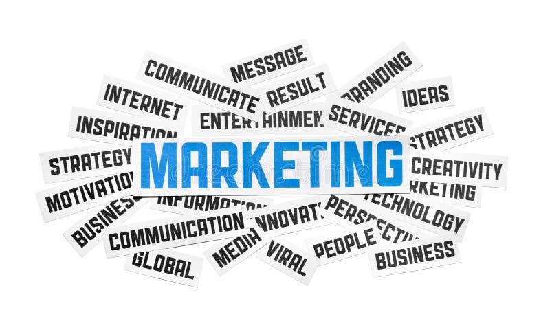 De marketing van Teken stock afbeeldingen