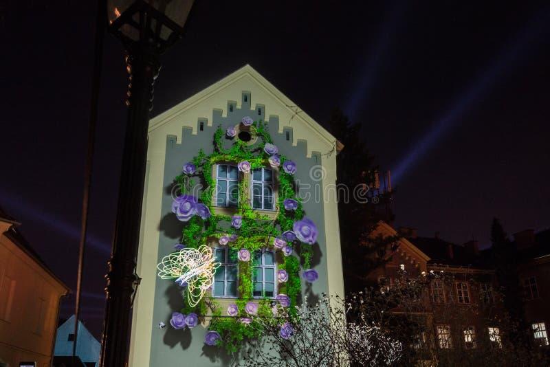 """16de markt 2018 Festival van Zagreb, Kroatië †het """"van licht in Zagreb royalty-vrije stock foto"""