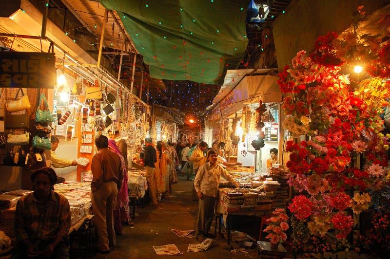 De Markt van de avond in Gujarat royalty-vrije stock foto