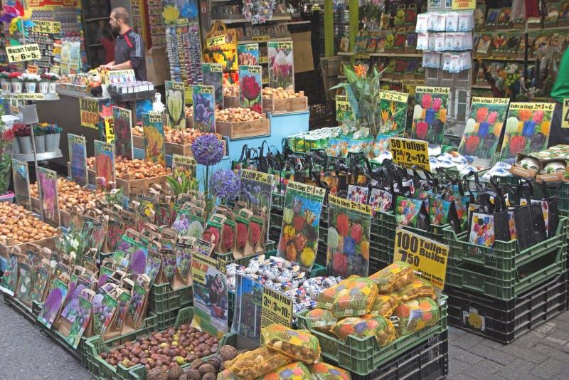 De markt van de bloem in Amsterdam stock fotografie
