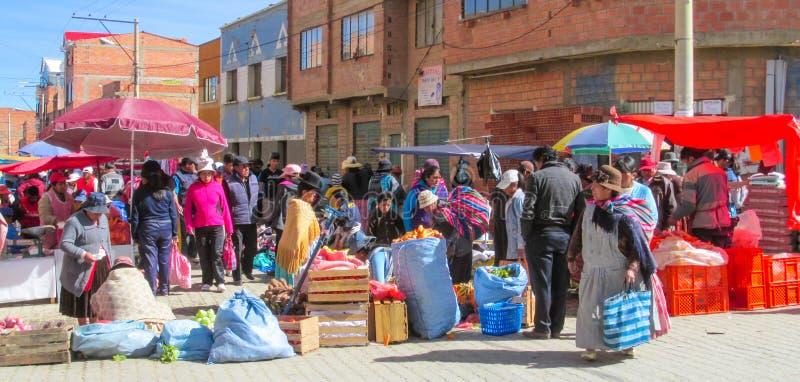 De markt van de de stadsstraat van Bolivië royalty-vrije stock foto