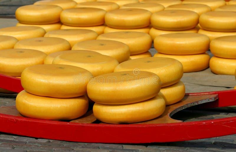 De markt van de kaas stock foto's