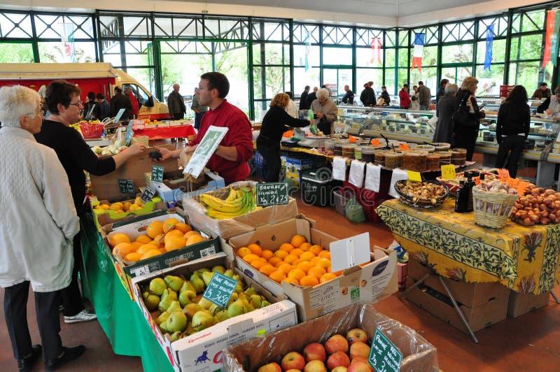 De Markt van de Landbouwer van het weekend in Frankrijk stock foto