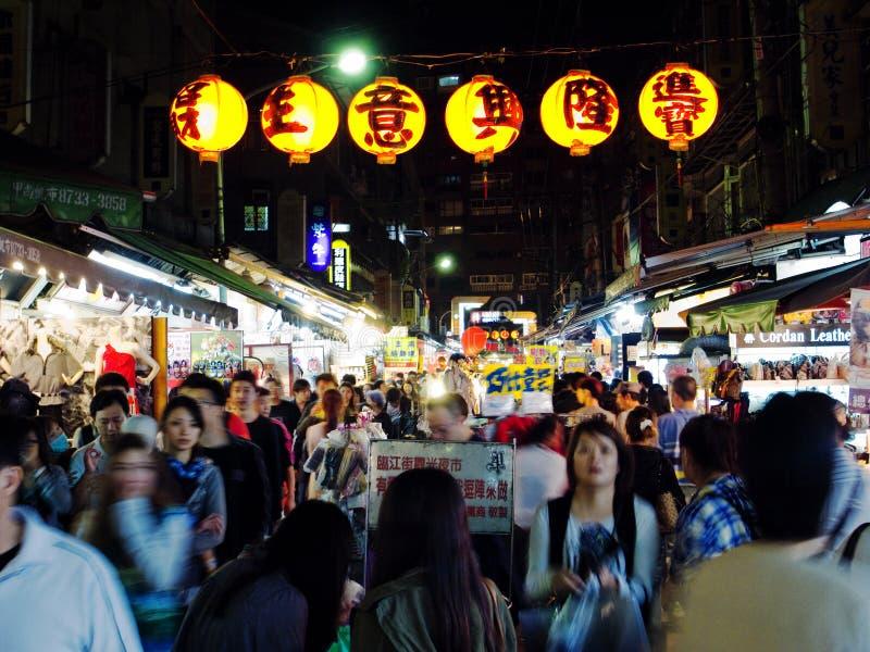 De markt van de nacht royalty-vrije stock fotografie