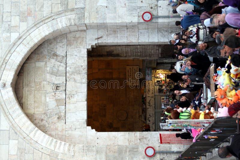 De Markt van de Poort van Damascus, Jerusealem, Israël, Azië royalty-vrije stock foto's
