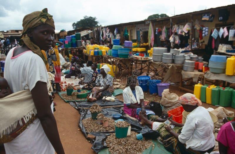 De Markt van de straat in Burundi. stock afbeelding