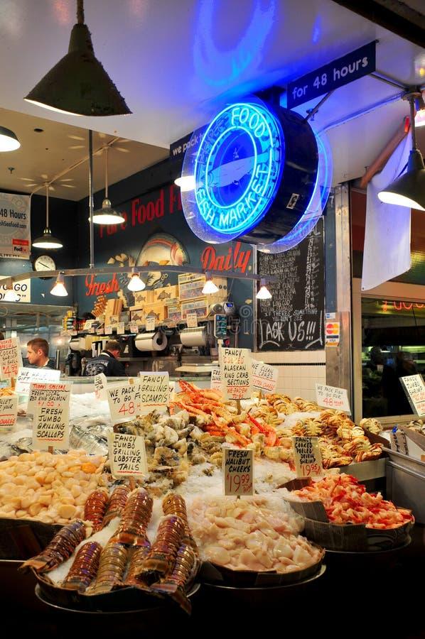De Markt van de Vissen van de Plaats van snoeken royalty-vrije stock afbeelding