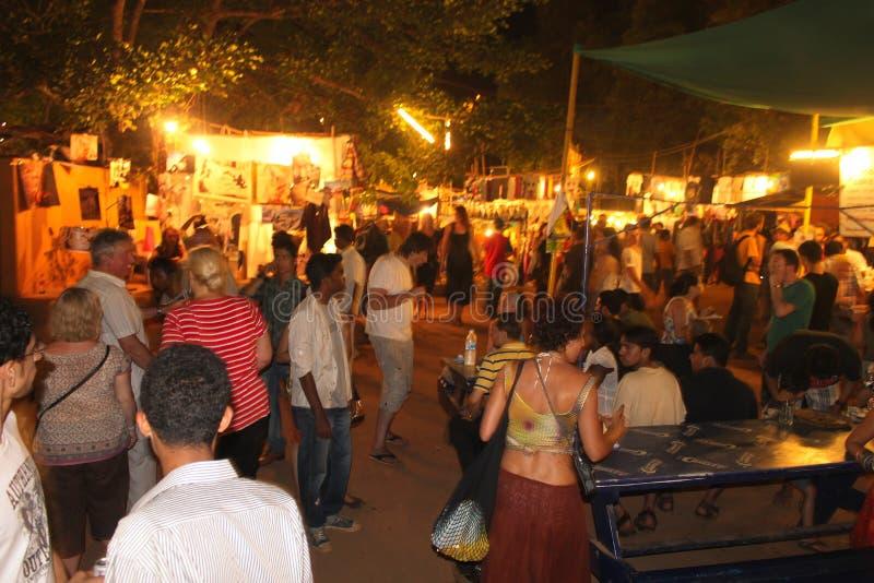 De Markt van de zaterdagnacht Arpora - Goa royalty-vrije stock afbeeldingen