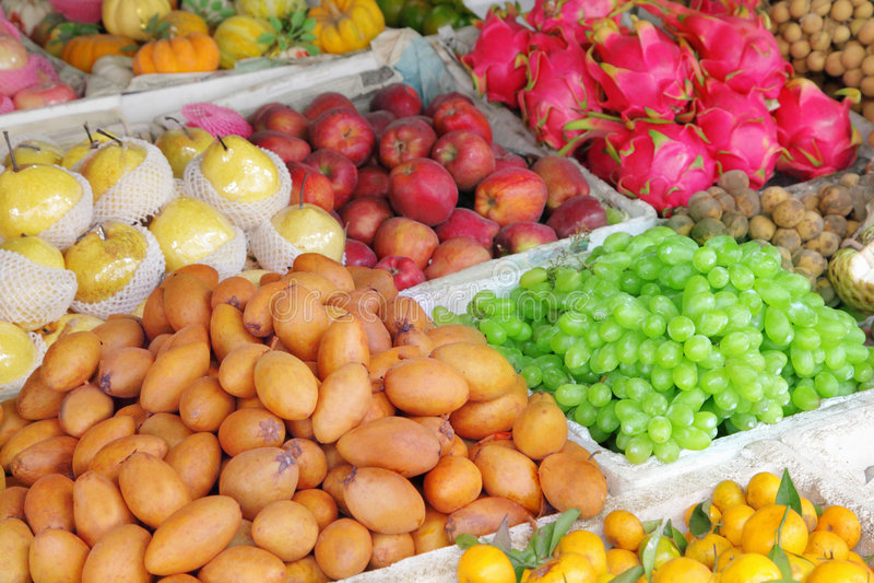 De markt van het fruit stock foto