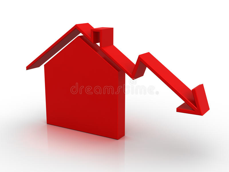 De markt van het huis royalty-vrije illustratie