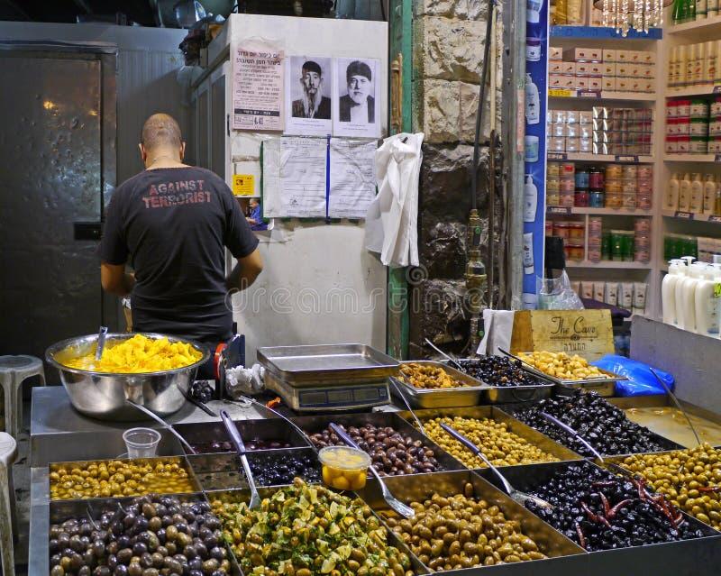 De markt van het voedsel in Jeruzalem royalty-vrije stock afbeelding