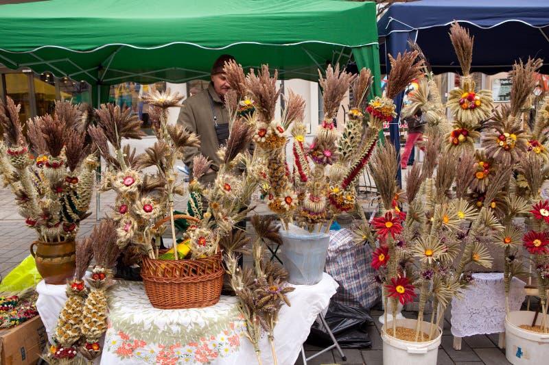 De markt van Kaziuko stock afbeelding