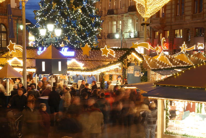 De Markt van Kerstmis royalty-vrije stock foto's