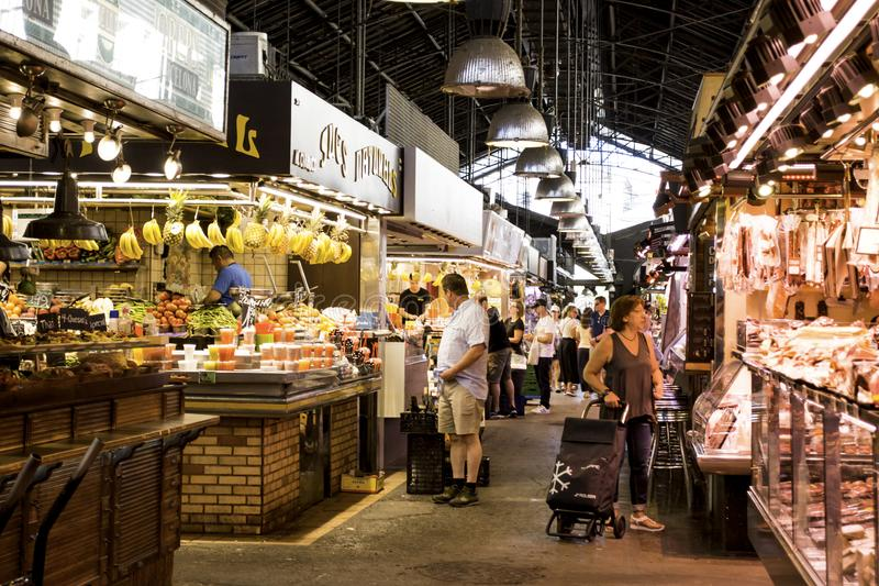 De Markt van La BoquerÃa, Barcelona Spanje royalty-vrije stock foto