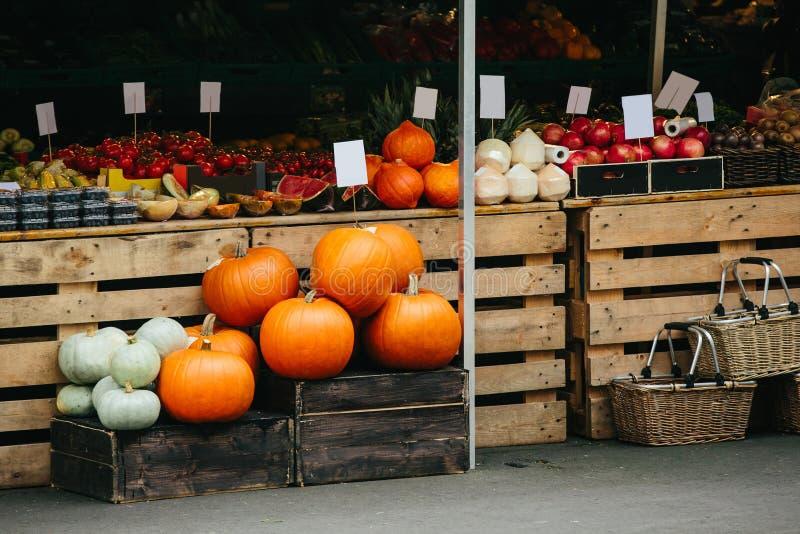 De markt van de landbouwersstraat stock afbeeldingen