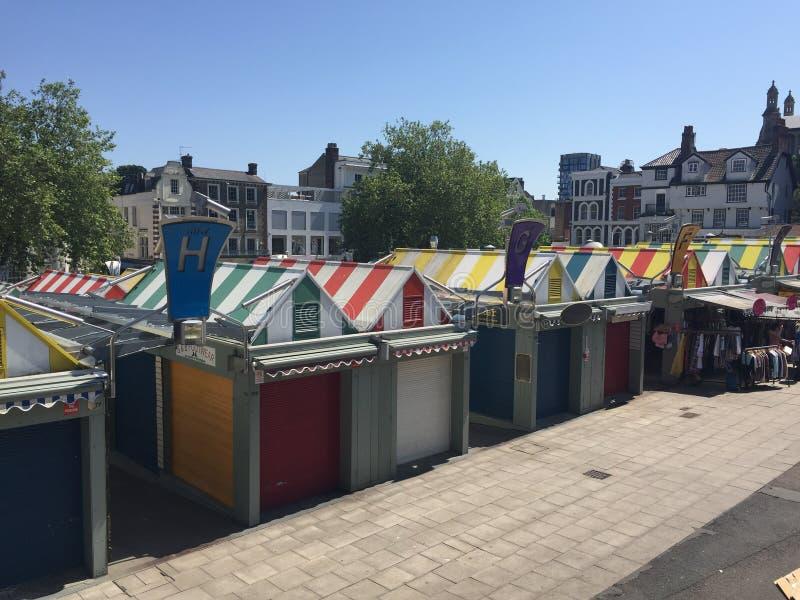 De markt van Norwich stock fotografie