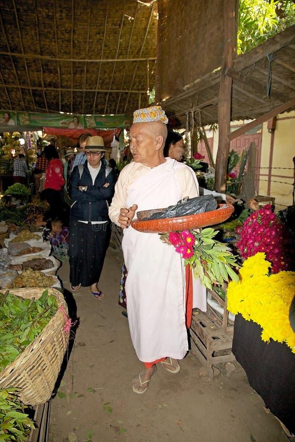 De markt van Nyaungu, Bagan, Myanmar royalty-vrije stock fotografie