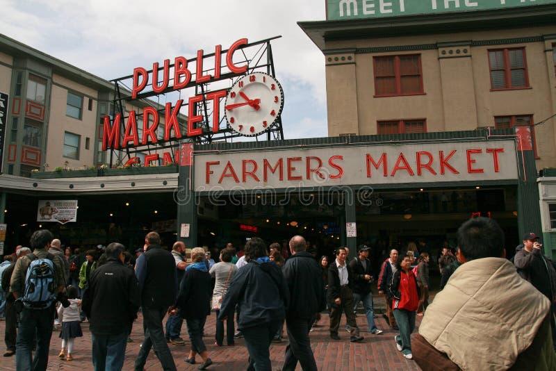 De Markt van openbare Marktlandbouwers stock foto