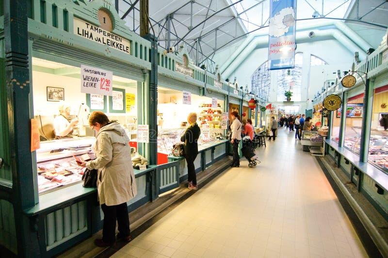 De markt van Pasen in Tampere Finland stock fotografie