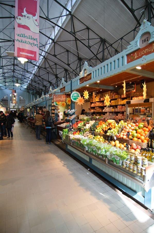 De markt van Pasen in Tampere Finland royalty-vrije stock afbeeldingen