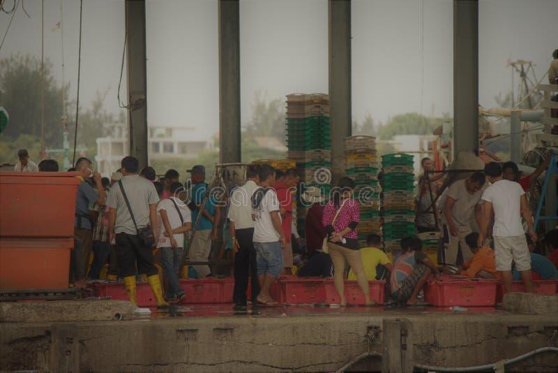 De markt van Sabahvissen stock afbeelding