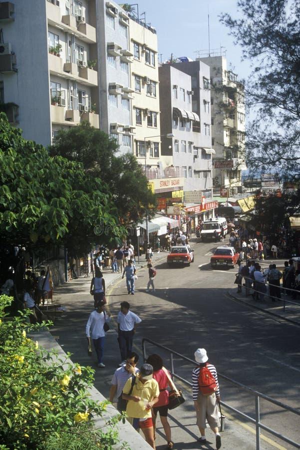 De markt van Stanley, Hongkong stock afbeeldingen