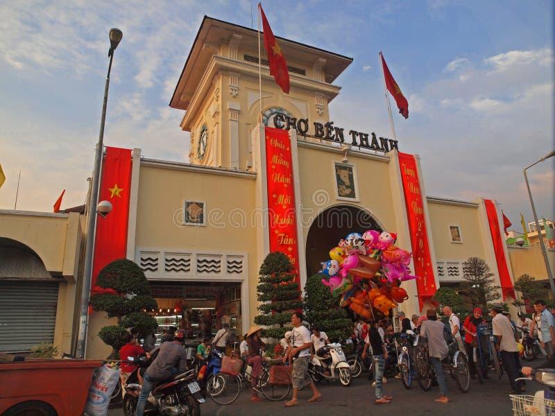 De Markt van Thanh van Ben, Ho-Chi-Minh-Stad royalty-vrije stock foto's