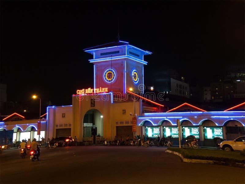 De Markt van Thanh van Ben, Ho-Chi-Minh-Stad, Vietnam stock fotografie