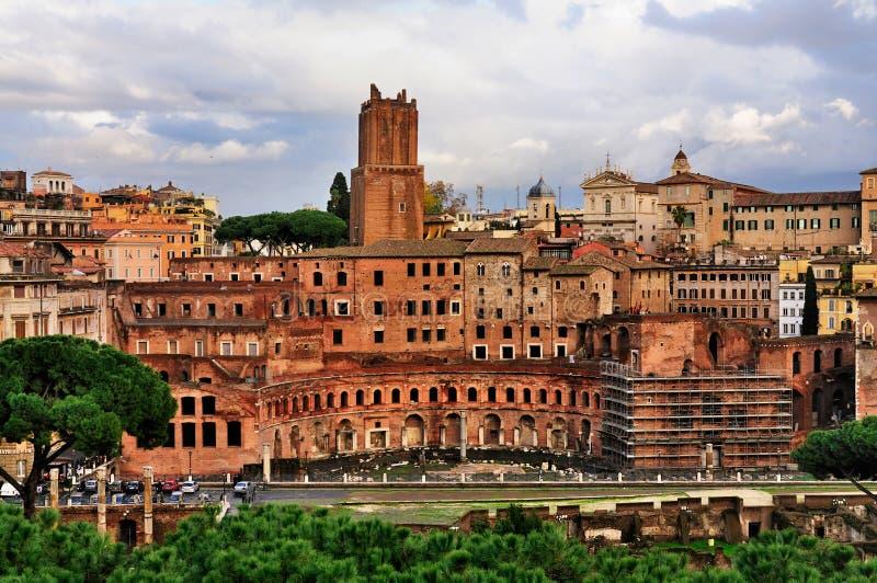 De Markt van Trajan, Rome stock foto