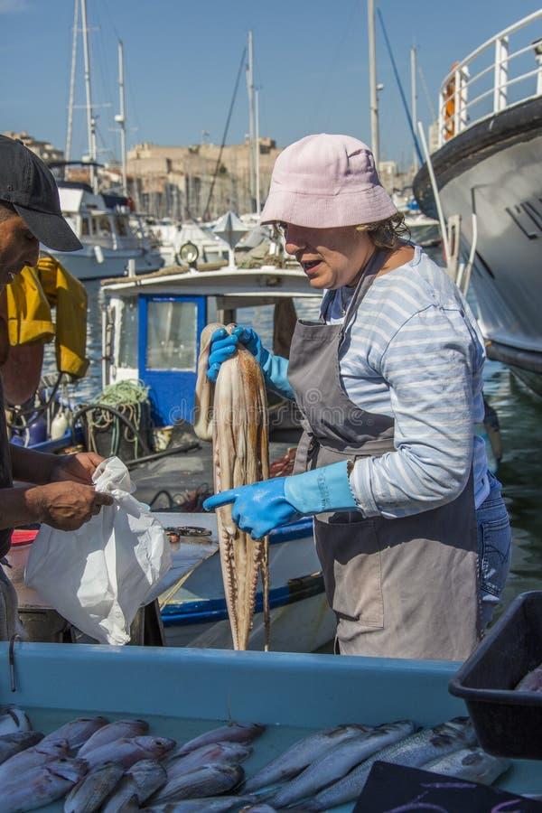 De Markt van vissen - Marseille - Zuiden van Frankrijk royalty-vrije stock fotografie