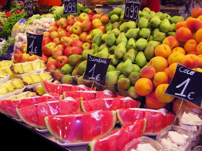 De markt van vruchten royalty-vrije stock afbeelding