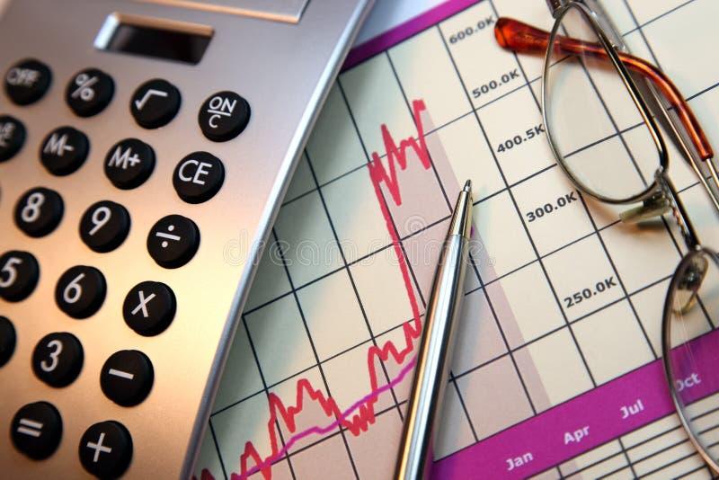De markten gaan, Financiële Grafiek uit royalty-vrije stock afbeelding