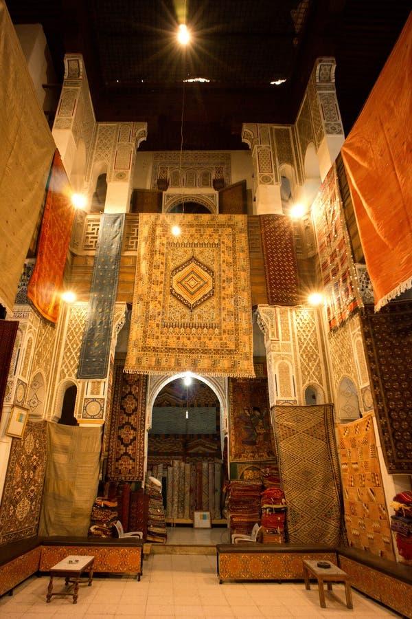 De Markten van Marrakech Medina royalty-vrije stock afbeeldingen