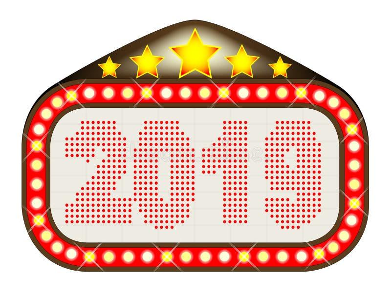 2019 de Markttent van het Filmtheater royalty-vrije illustratie