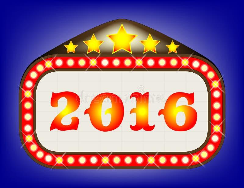 2016 de Markttent van het Filmtheater stock illustratie