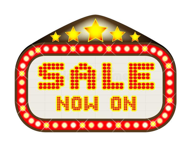 De Markttent van het verkooptheater op Wit stock illustratie