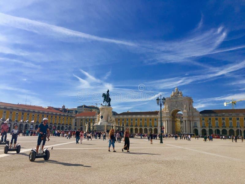 De marktvierkant van Lissabon stock foto's