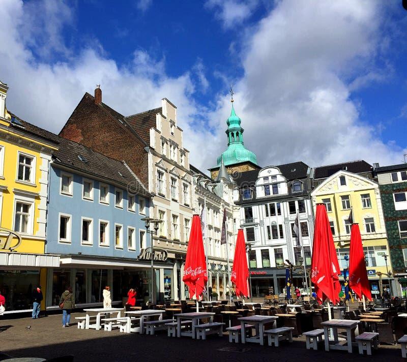 De marktvierkant van Recklinghausen (Duitsland) royalty-vrije stock fotografie
