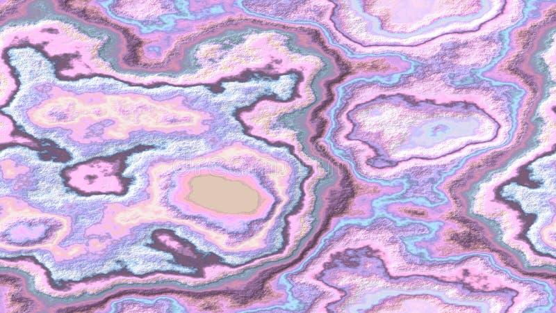 De marmeren achtergrond van het agaat steenachtige naadloze patroon - roze mauve blauwe kleur van de parel de leuke baby met ruwe stock illustratie
