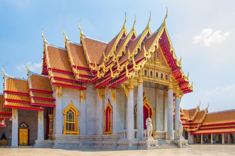 De Marmeren Tempel, Wat Benchamabophit Dusitvanaram Bangkok stock afbeelding