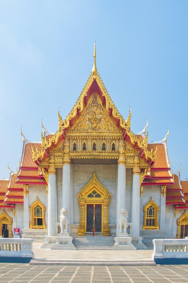 De Marmeren Tempel, Wat Benchamabophit Dusitvanaram Bangkok royalty-vrije stock afbeeldingen
