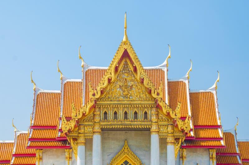 De Marmeren Tempel, Wat Benchamabophit Dusitvanaram Bangkok royalty-vrije stock fotografie
