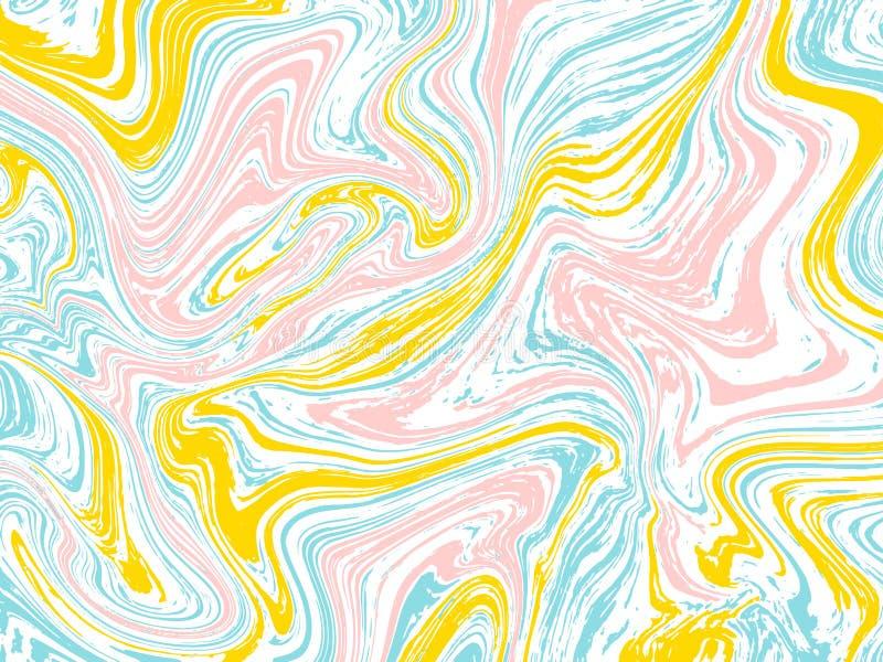 De marmeren vectorachtergrond van de inkttextuur stock illustratie