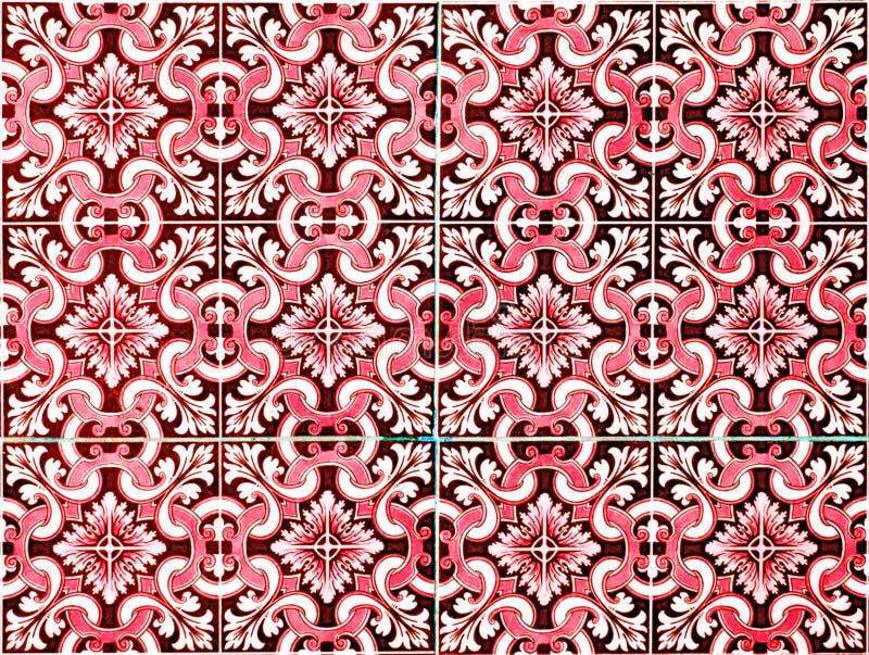 De Marokkaanse achtergrond van het tegelpatroon royalty-vrije stock afbeeldingen