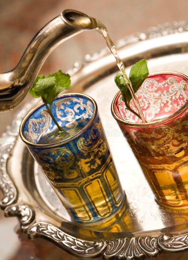 De Marokkaanse koppen van de Thee stock afbeelding