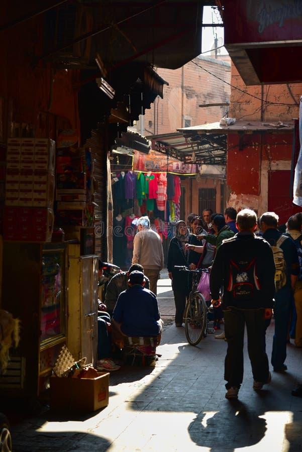De Marokkaanse markt van de levensstijlstraat royalty-vrije stock foto