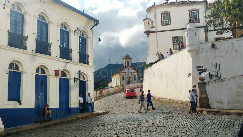 25 de marzo de 2016, ciudad histórica de Ouro Preto, Minas Gerais, el Brasil, nuestra señora del ` de Cima del ` de la iglesia de fotografía de archivo