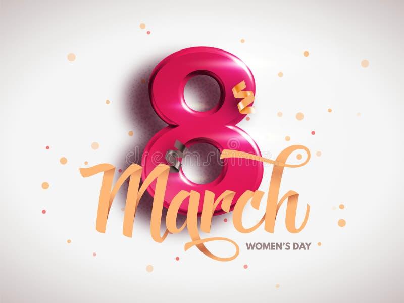 8 de marzo Día internacional del ` s de la mujer Día feliz del `s de la madre ilustración del vector