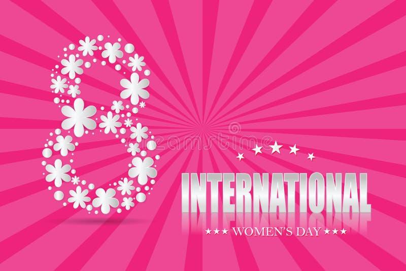 8 de marzo Día internacional del ` s de las mujeres libre illustration