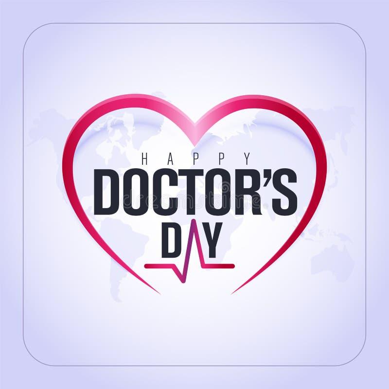 30 de marzo, Day del mundo del doctor tarjeta de felicitación del concepto, los doctores nacionales Day Template caloría libre illustration